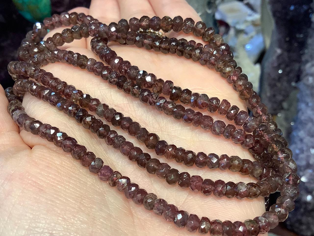 4-6mm Exquisite Natural Color Change Garnet Faceted Rondelles Beads