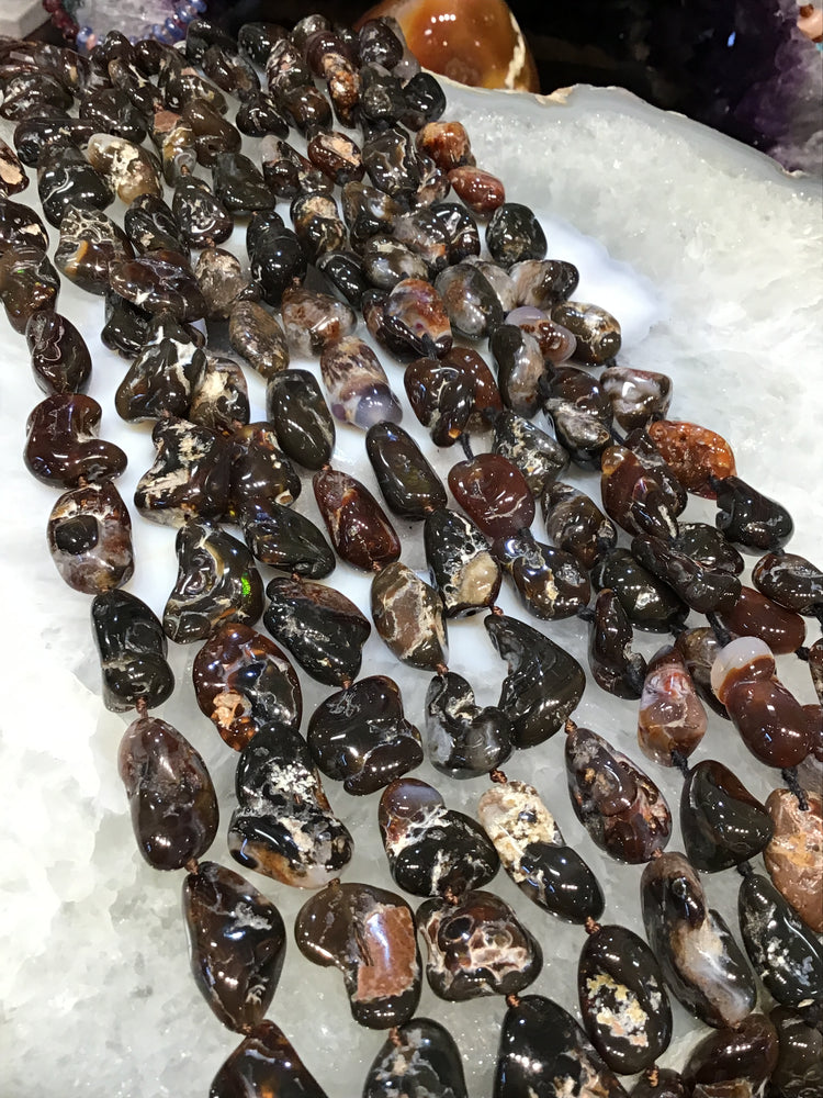15-20mm Mexican fire agate nugget gemstones