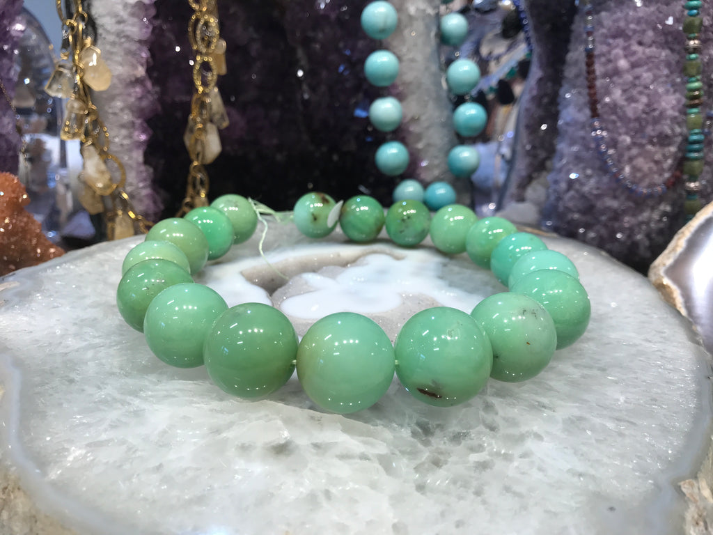 21-25mm Chrysoprase Round Gemstone Beads