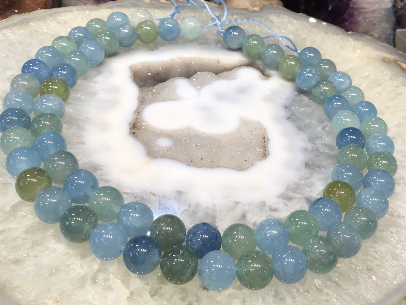 12mm Blue green Aquamarine round gemstone Top!!