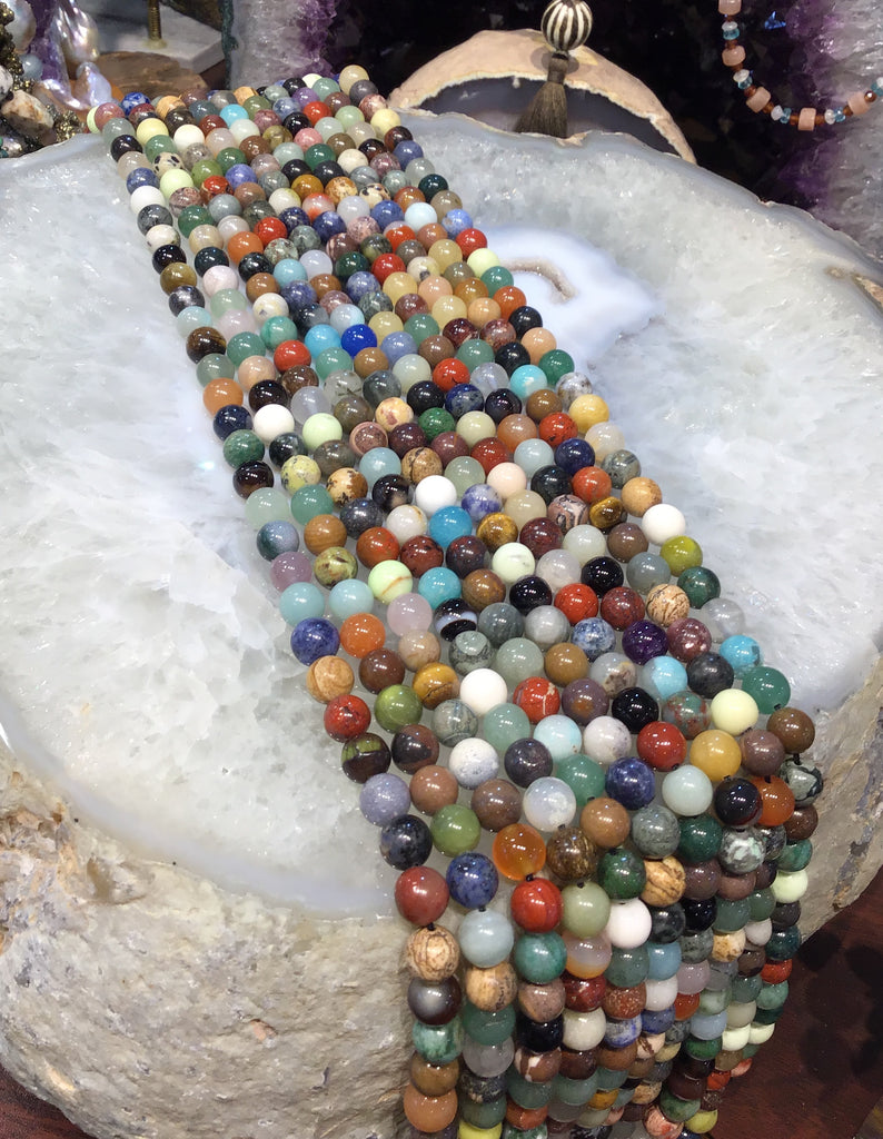 8mm Multicolour assorted gemstone beads