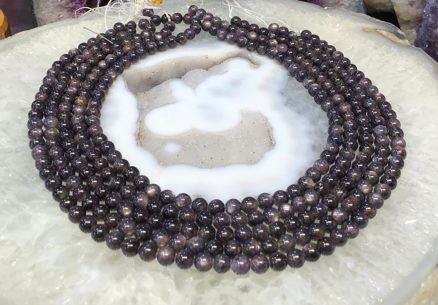 6mm Natural Star Sapphire Round Gemstone Beads