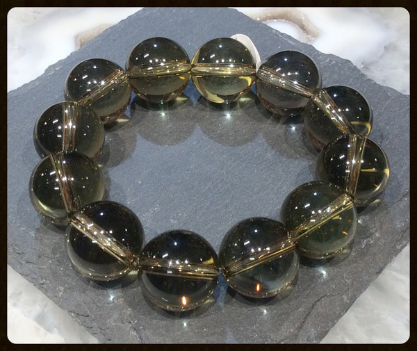 Lemon Quartz gemstone bracelet
