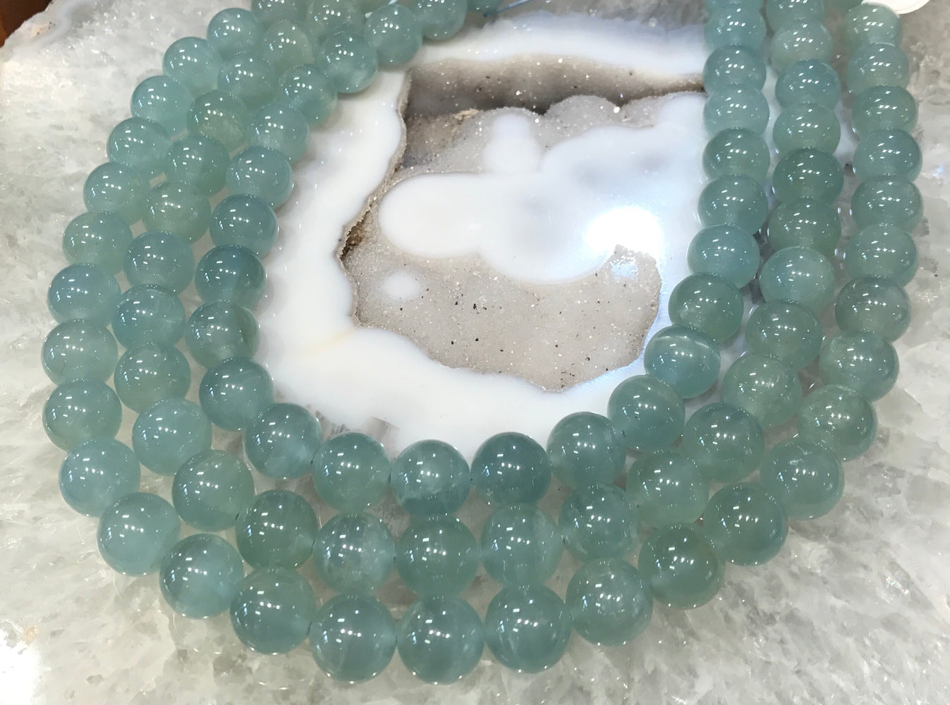 12mm 3A+ Aquamarine Multicolor Round Beads