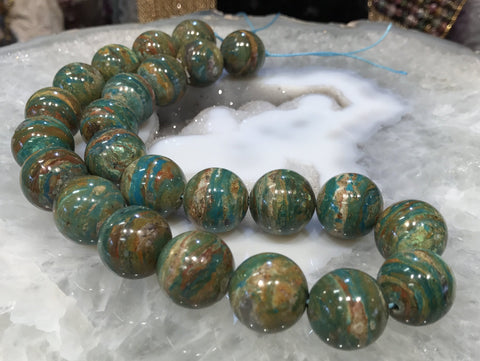 17mm Peruvian Opal Gemstone Round Beads #1