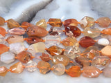 Mexican Fire Opal Faceted Gemstone Beads