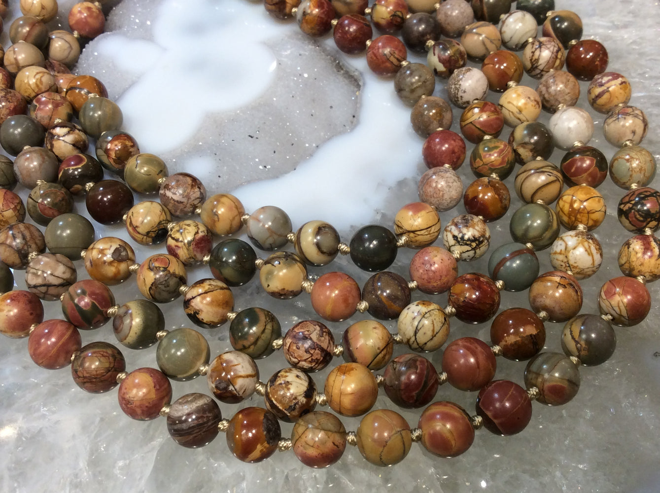 7-8mm Cherry Creek Jasper Round Gemstone Beads