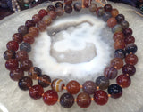 14mm Multicolor Carnelian Gemstone Round Beads