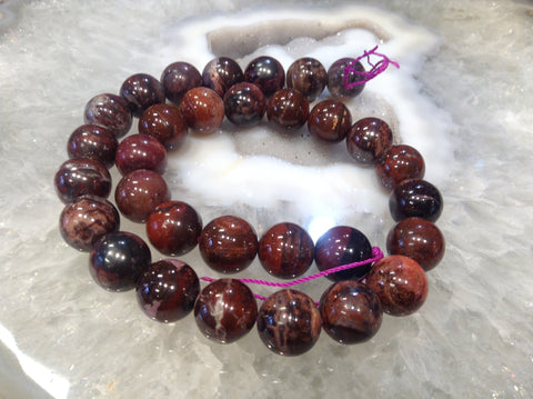 13mm Multicolour  Sugilite Round Gemstone Beads