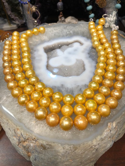 12-15mm Gold Freshwater Pearls