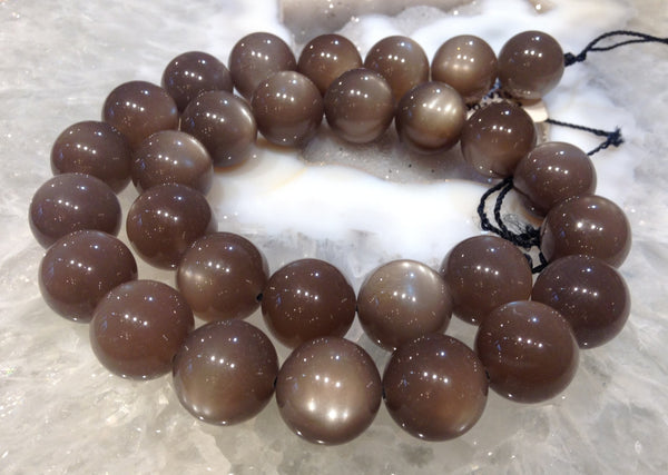 14mm Taupe Brown Moonstone CE Quality - One of A Kind
