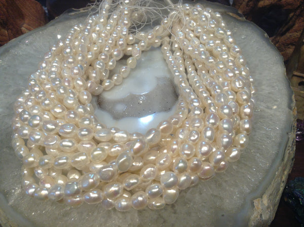 8mm White Freshwater Pearls