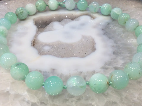 14mm Chrysoprase Round Gemstone Beads ( A Grade)