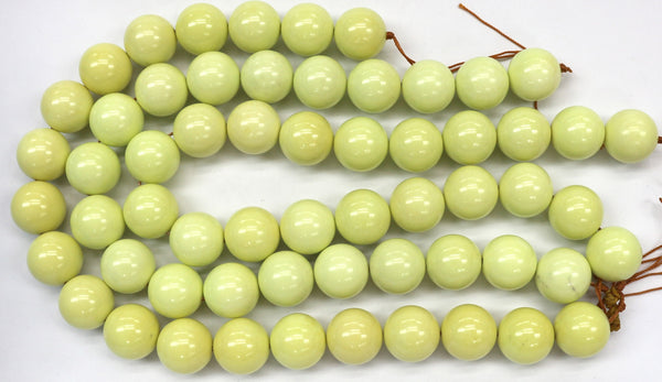 Lemon Magnesite Gemstone Beads (20mm)