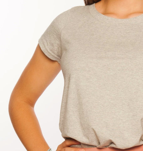 Loskey Scoop T-Shirt in Grey Organic Cotton