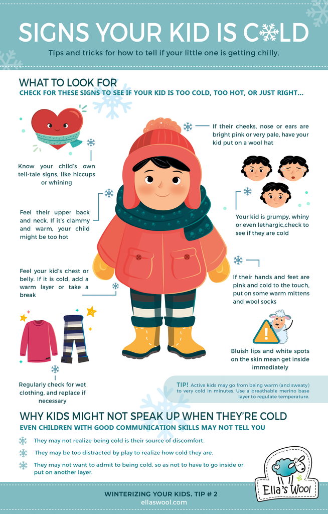 Tips and tricks for how to tell if your little one is getting chilly.