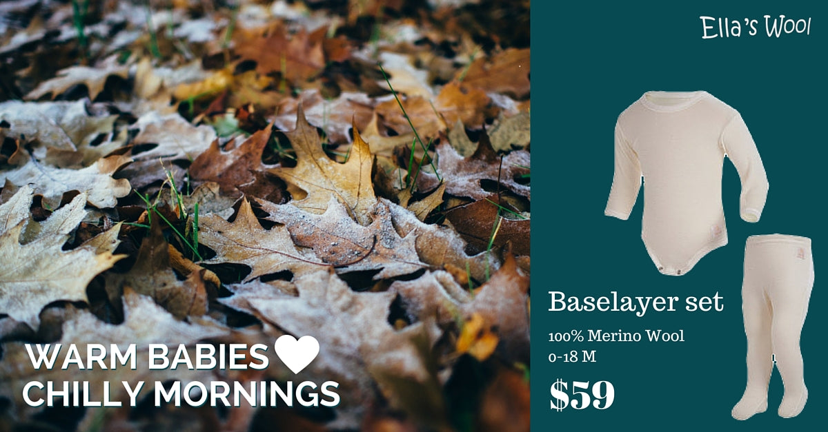 Warm babies love chilly mornings