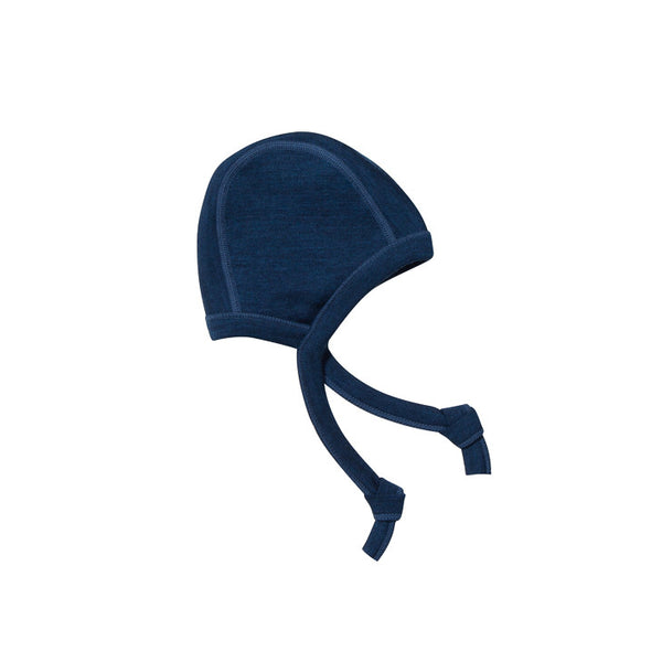 Ella's Wool Thermal Merino Baby Hat (Navy Blue)