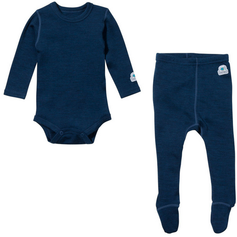 Baby Base Layer Set (Navy Blue)