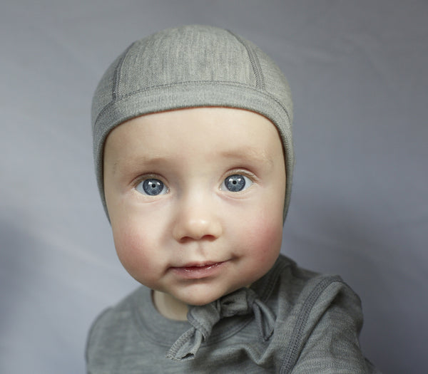 Ella's Wool Thermal Merino Baby Hat (Marl-Gray)