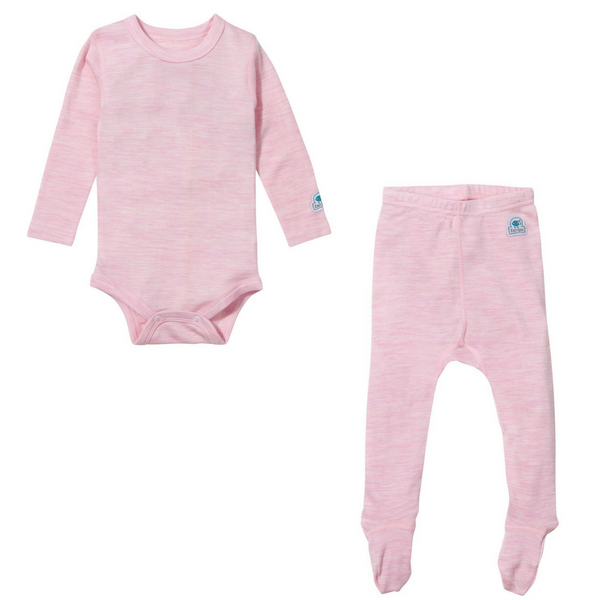 Ella's Wool Baby Base Layer Set (Light Pink)