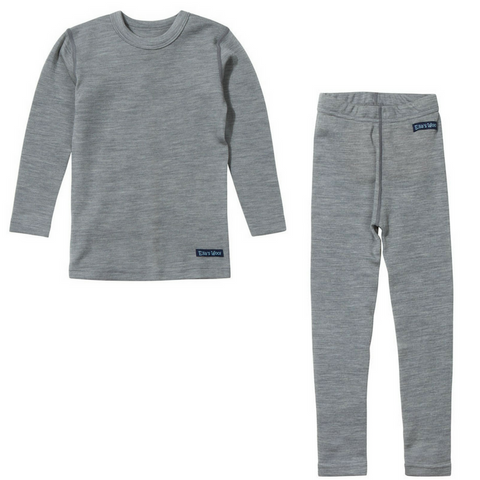 Ella's Wool Base Layer Set (Marl-Gray)
