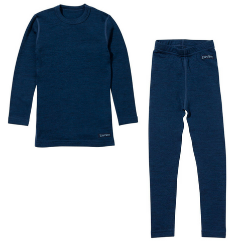 Ella's Wool Base Layer Set (Navy Blue)