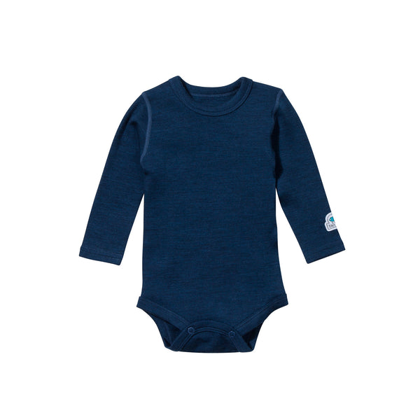 Ella's Wool Baby Base Layer Set (Navy Blue)