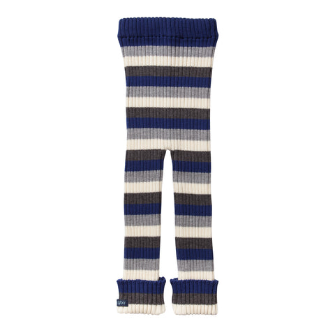 TUBES - Knit Leggings - Blue Striped