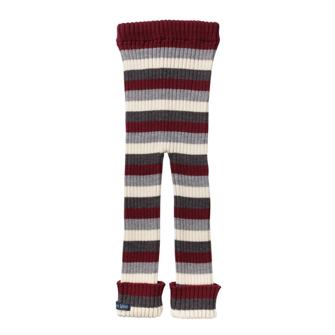 TUBES - Knit Leggings - Maroon Red Striped