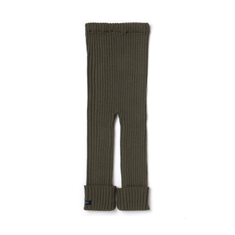TUBES - Knit Leggings - Olive green