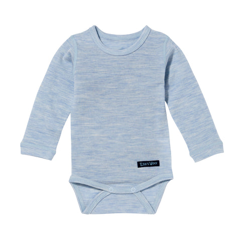 Ella's Wool Baby Base Layer Onesie (Light Blue)