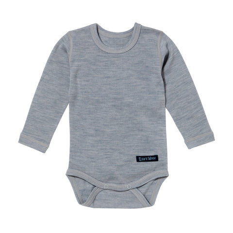 Ella's Wool Baby Base Layer Onesie (Gray)
