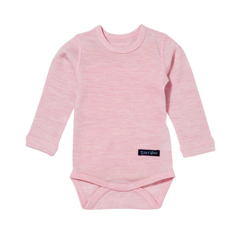 Ella's Wool Baby Base Layer Onesie (Light Pink)