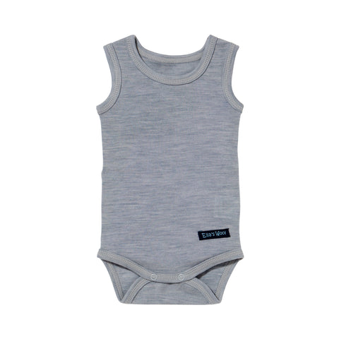 Ella's Wool Baby Base Layer Tank Onesie (Gray)