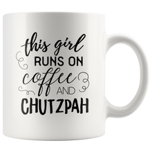This Girl Runs on Coffee & Chutzpah Mug