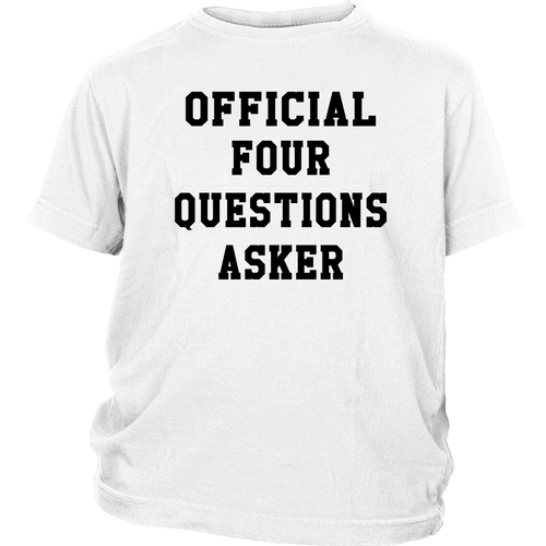 Official Four Questions Asker - Passover Youth Shirt