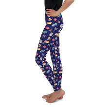Youth Purim Leggings - Navy