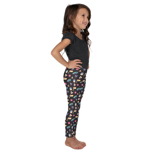 Kids Purim Leggings - Black