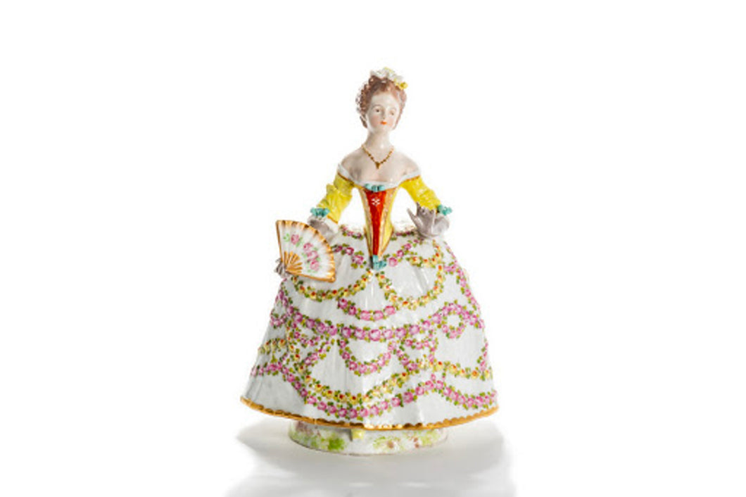 Porcelain Lady In Yellow Dress
