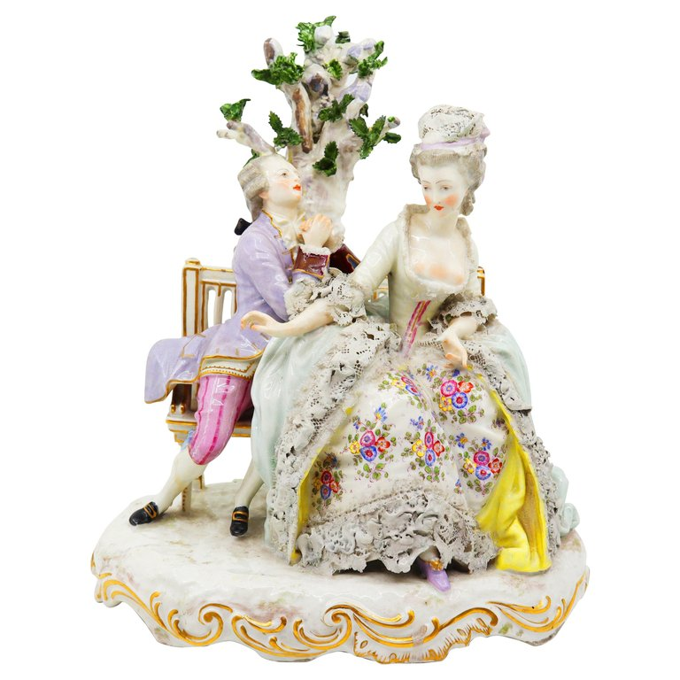 Porcelain Figurine of love scene, German, 19th Century