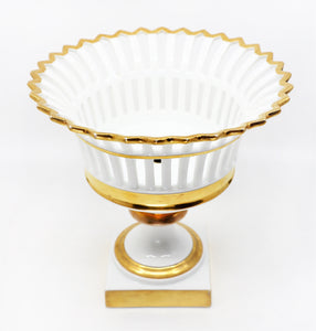 French, Early 19th Century, Empire Style, Pierced Porcelain Basket