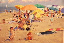 Niek van der Plas, Beach Scene, Oil on Canvas