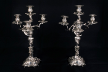 Pair of candelabras  Silversmith, French Late 19th Century Silver