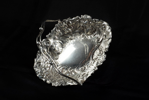 Fruit Basket Silversmith:  Sheffield, England 19th Century Sterling silver (925)