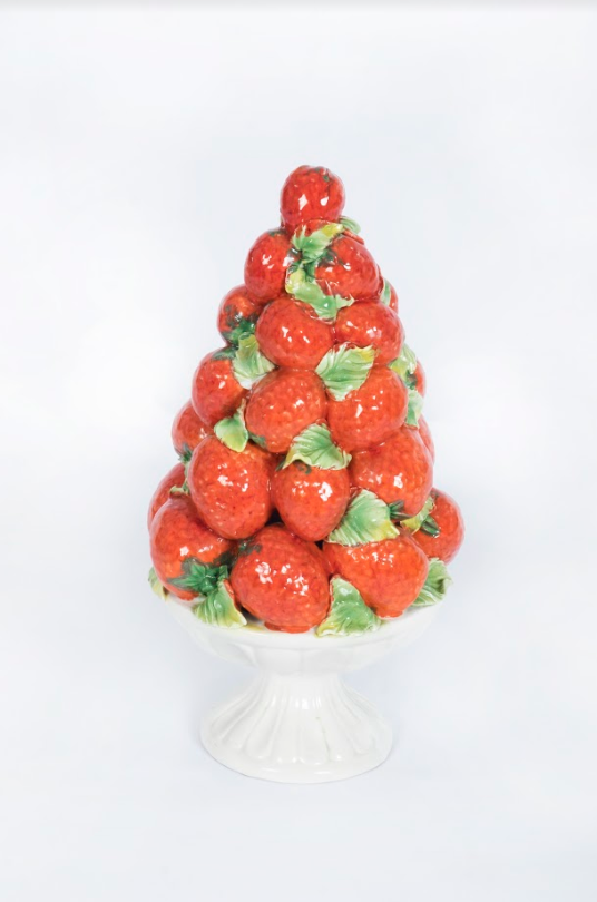 Strawberry Porcelain, Italian 20th Century