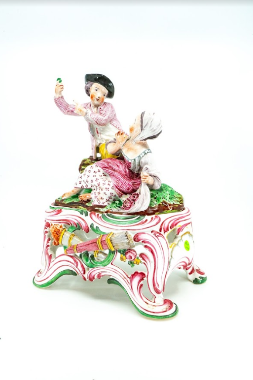 Porcelain Figurine of a Young Couple, France 19th Century
