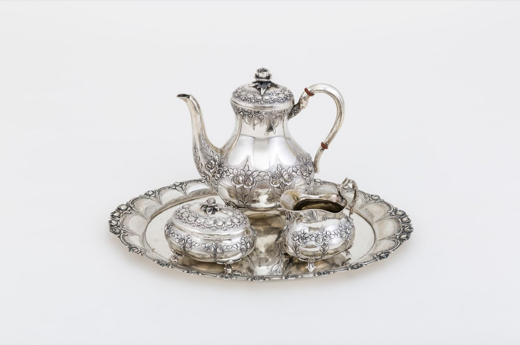 Coffee Service Silversmith: Dutch, Late 19th Century Silver (835)
