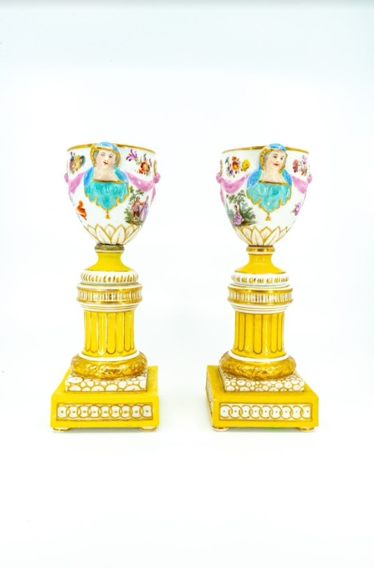 A pair of Brule Parfum Vases, French 19th Century