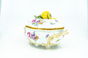 Porcelain Hand Painted Tureen Nymphenburg German, Early 20th Century